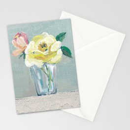 yellow rose & Jug Stationery Cards
