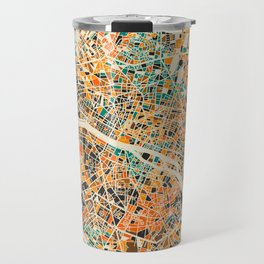 Paris mosaic map #3 Travel Mug