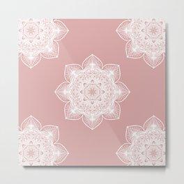 Pink Pastel Mandala Metal Print