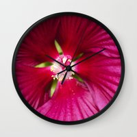 hibiscus Wall Clocks featuring Hibiscus by Christina Rollo