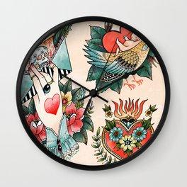 Tattoos of Love Wall Clock