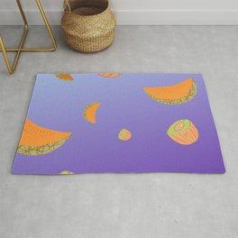 Honeydew Melon simpe Design smooth Background Rug