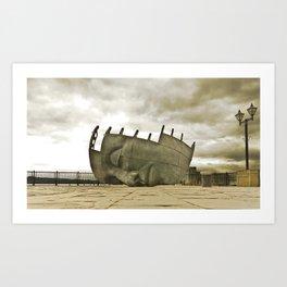 Sleeping giant Art Print