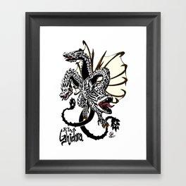 King Ghidora Kaiju Print Framed Art Print