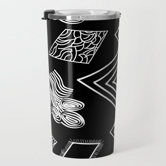 Black and White Diamonds Travel Mug