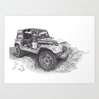 jeep Art Prints featuring Jeep by Rik Reimert