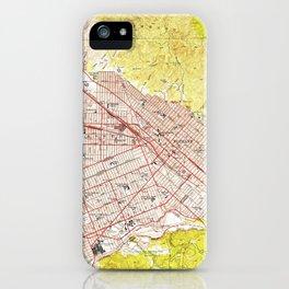 Vintage Map of Burbank California (1953) iPhone Case