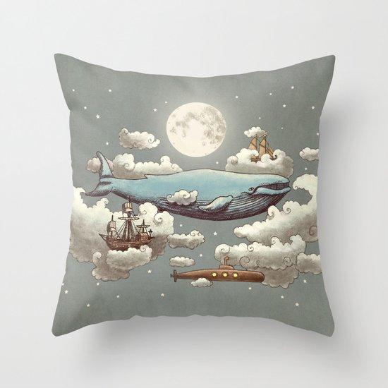 Ocean Meets Sky (original) Throw Pillow