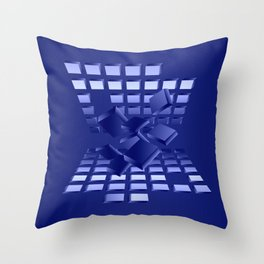 Explosion in blau Throw Pillow