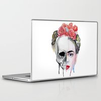 frida kahlo Laptop & iPad Skins featuring Frida Kahlo  by Karol Gallegos Carrera