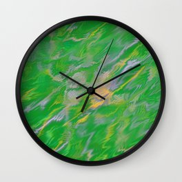 Pearl Green Water Wall Clock