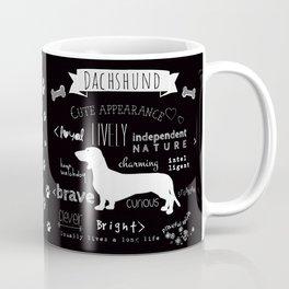 Dachshund black and white Coffee Mug