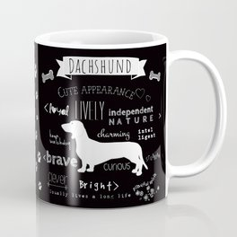 Dachshund black and white Coffee Mug