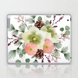 Colorful tropical Christmas flowers bouquet Laptop & iPad Skin