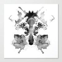 rorschach Canvas Prints featuring Rorschach by Robert Farkas