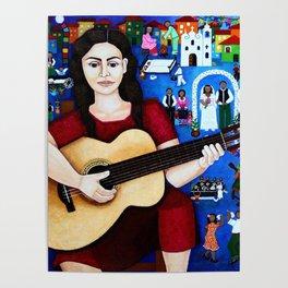 "Violeta Parra - ""Black wedding"" Poster"