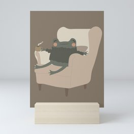 Frog Cozy Evening Tea | Jeni the Frog Mini Art Print