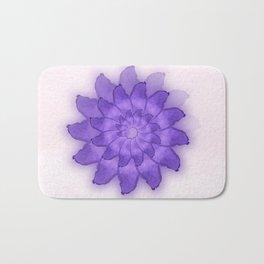Watercolor purple flower. Bath Mat