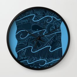 Once Upon the Sea Wall Clock