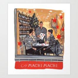 Holiday Cafe NYC Art Print