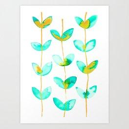 corazones enlazados blue Art Print
