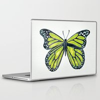 lime Laptop & iPad Skins featuring Lime Butterfly by Cat Coquillette