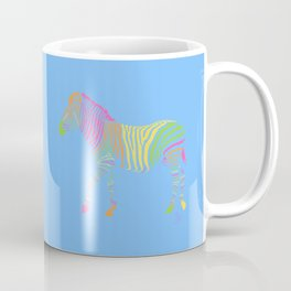 Zebra 6B Blue Background Coffee Mug