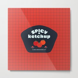Ketchup Label. Classic American Since 1873 Metal Print