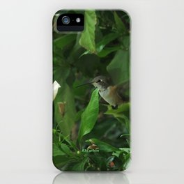 Lady Lurking in the Shade iPhone Case