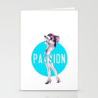 passion Stationery Cards featuring Passion by victor calahan