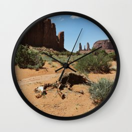 Monument Valley Horse Carcass Wall Clock