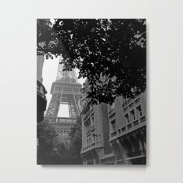 Eiffel Tower in Hiding Metal Print