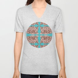 Resting Cat Pattern Unisex V-Neck