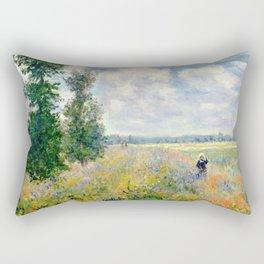 Poppy Fields near Argenteuil by Claude Monet Rectangular Pillow