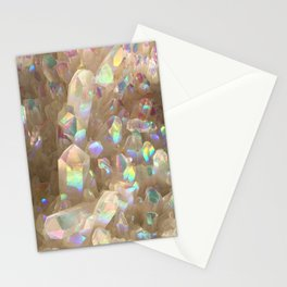 Unicorn Horn Aura Crystals Stationery Cards