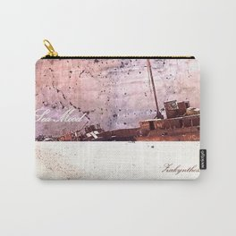 Sea-mood zakynthos, sand blue boat ship tan ocean , society6 Carry-All Pouch