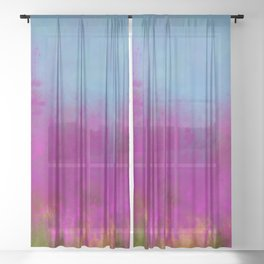 Wildflowers Mod Impressionism Sheer Curtain