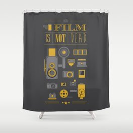 Film is not dead  Shower Curtain