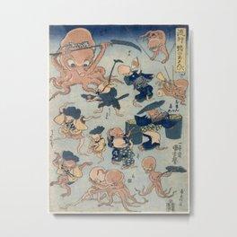 Utagowa Kuniyoshi Octopus Games Metal Print