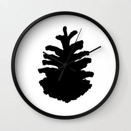 Pinecone Silhouette Wall Clock