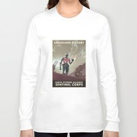 n7 Long Sleeve T-shirts featuring Mass Effect 3- Sentinel Propaganda by Joe Byrne