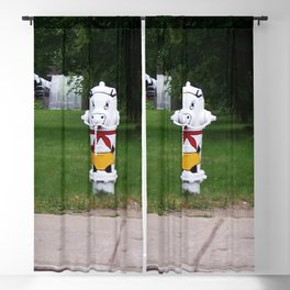 Funny Fire Hydrant Blackout Curtain