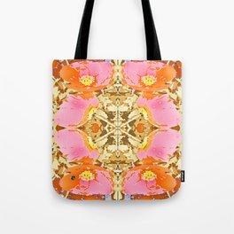 Pink & Orange Poppy 4 Tote Bag