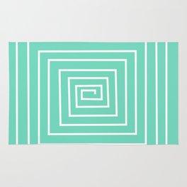 torquoise labirint design Rug