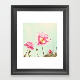 Sunshine & Poppy Framed Art Print