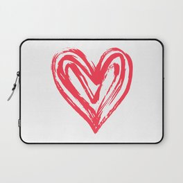 Hand drawn doodle heart Laptop Sleeve