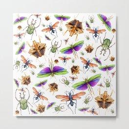Vibrant Insect Swarm Metal Print