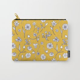 Hand-drawn garden sunshine Carry-All Pouch