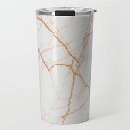 stylish minimalist trendy chic rose gold white marble Travel Mug