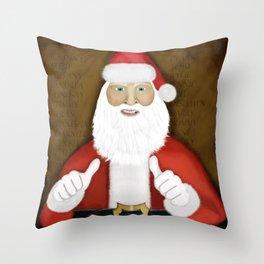 Thumbs (the Santa Claus edition) Throw Pillow